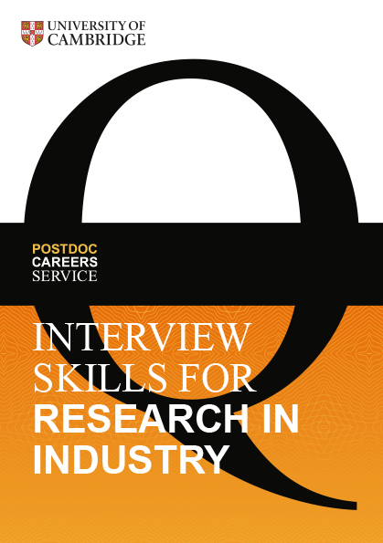 Interview Skills for Research in Industry