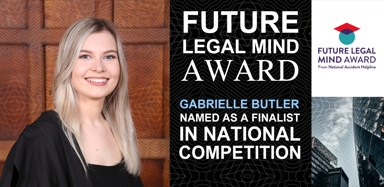 Gabrielle Butler announced as finalist in Law competition